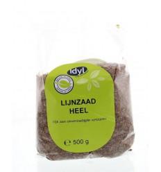 Idyl Lijnzaad heel 500 gram | € 1.66 | Superfoodstore.nl