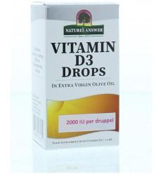 Natures Answer Vitamine D3 2000 IU 50 mcg per druppel 15 ml |