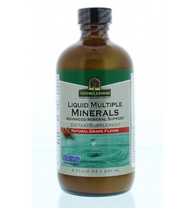 Multi Mineralen Natures Answer Vloeibaar mineralen - Liquid multiple minerals 240 ml kopen