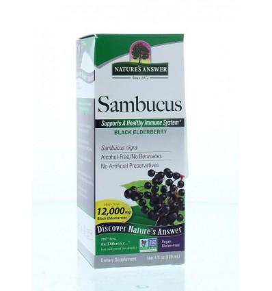 Magnesium Natures Answer Sambucus vlierbessen extract alcoholvrij 120 ml kopen