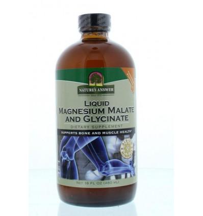 Magnesium Natures Answer Vloeibaar malaat & bisglycinaat 480 ml kopen