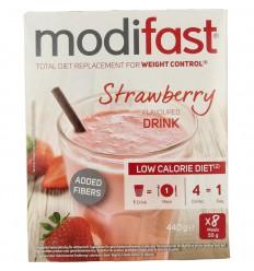 Modifast Milkshake aardbei 8 stuks 440 gram | Superfoodstore.nl