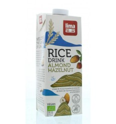 Lima Rice drink hazelnoot amandel 1 liter | Superfoodstore.nl