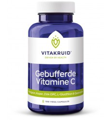 Vitakruid Gebufferde Vitamine C 100 100 vcaps | € 20.05 | Superfoodstore.nl