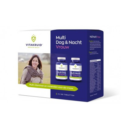 Vitakruid Multivitamine Vitakruid Multi dag & nacht vrouw 2 x 90 tabletten 180 tabletten kopen