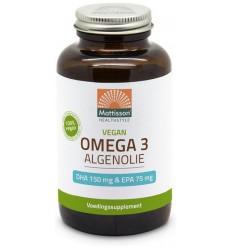 Mattisson Omega 3 algenolie DHA150/EPA75 120 capsules |