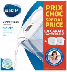 Brita Waterfilterbundel Marella cool white + 2 filterpat 1 set