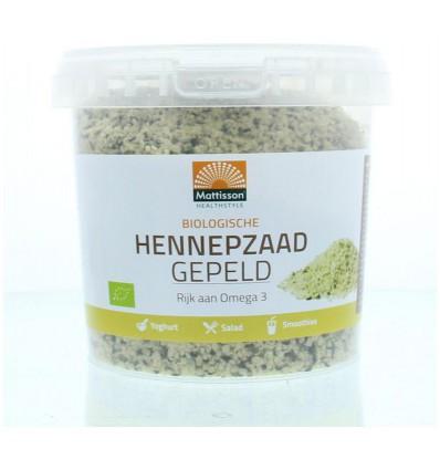 Mattisson Absolute hemp seeds hulled hennepzaad gepeld 500 gram | € 10.29 | Superfoodstore.nl