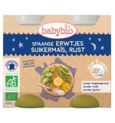 Babybio Groenten erwten mais rijst 200 gram 2 stuks |