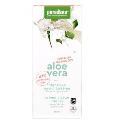 Purasana Aloe vera gezichtscreme intensief 50 ml | € 11.57 | Superfoodstore.nl