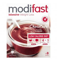 Modifast Intensive pudding chocolade 8 zakjes 440 gram |