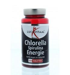Lucovitaal Chlorella spirulina 200 tabletten | Superfoodstore.nl