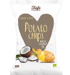 Trafo Chips kokosolie gebakken 40 gram | Superfoodstore.nl