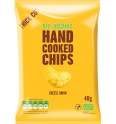 Trafo Chips handcooked kaas & ui 40 gram | € 0.75 | Superfoodstore.nl