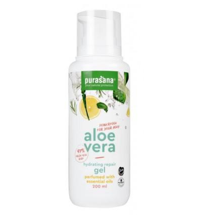 Purasana Aloe vera gel 97% parfum essentiele olie 200 ml   € 12.04   Superfoodstore.nl
