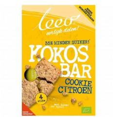 Leev Bio oerrr koek kokos, citroen & granen 141 gram | € 2.39 | Superfoodstore.nl