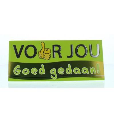 Voor Jou! wensreep goed gedaan | € 2.02 | Superfoodstore.nl