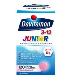 Davitamon Junior 3+ framboos 120 kauwtabletten |