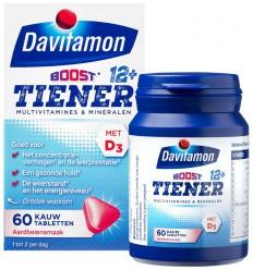 Davitamon Multiboost 12+ aardbei 60 tabletten |