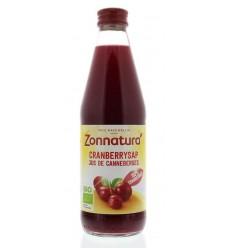 Zonnatura Cranberrysap puur bio 330 ml | Superfoodstore.nl