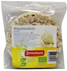 Zonnatura Rijstwafels naturel duo 13.5 gram | Superfoodstore.nl