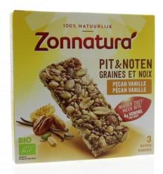 Repen Zonnatura Pit en notenreep pecan vanille 25 gram 3 stuks