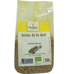 Primeal Lijnzaad goudblond 250 gram | Superfoodstore.nl