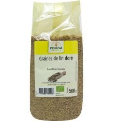 Primeal Lijnzaad goudblond 500 gram | Superfoodstore.nl