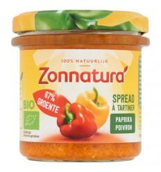 Zonnatura Groentespread paprika 135 gram | Superfoodstore.nl