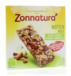 Zonnatura Noten appel kaneel reep 25 gram 3 stuks | € 2.33 | Superfoodstore.nl