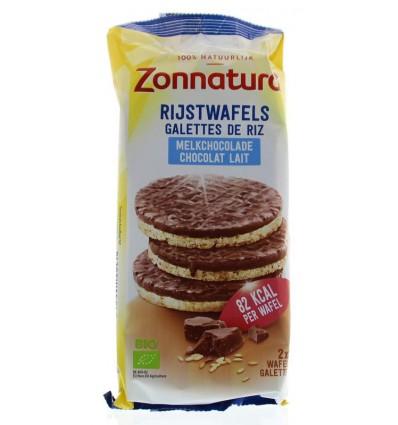 Zonnatura Rijstwafels choco melk 100 gram | € 2.74 | Superfoodstore.nl