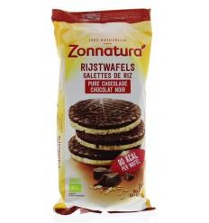 Zonnatura Rijstwafels choco puur 100 gram | Superfoodstore.nl