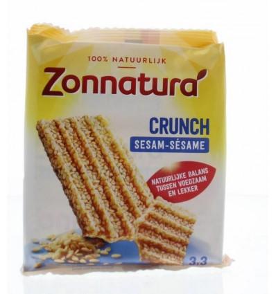 Zonnatura Sesam crunch reep 50 gram 3 stuks | Superfoodstore.nl