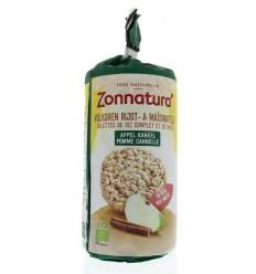 Zonnatura Rijstwafel appel kaneel 127 gram | Superfoodstore.nl