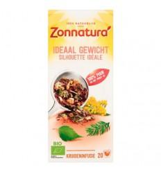 Zonnatura Ideaalgewicht thee bio 20 zakjes | € 2.33 | Superfoodstore.nl