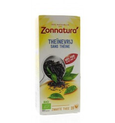 Zonnatura Theinevrije thee bio 20 zakjes | Superfoodstore.nl