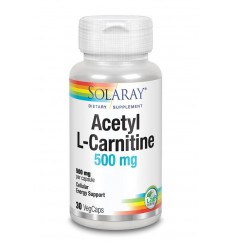 Solaray Acetyl L-carnitine 500 mg 30 vcaps | Superfoodstore.nl