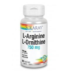 L-Arginine Solaray L-Arginine L-Ornithine 750 mg 50 vcaps kopen