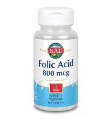 KAL Foliumzuur 800 mcg & B12 100 tabletten | Superfoodstore.nl