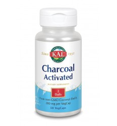 KAL Charcoal activated - actieve kool 280 mg 50 vcaps |