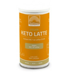 Mattisson Vegan keto latte instant MCT & coffee drink 200 gram | € 12.85 | Superfoodstore.nl