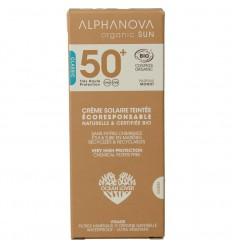 Alphanova Sun Sun vegan gekleurde dagcreme SPF50 medium tint 50