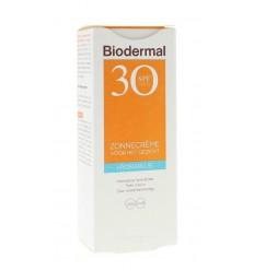 Biodermal Zonnecreme gezicht hydraplus SPF30 50 ml |