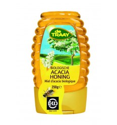 De Traay Acaciahoning knijpfles bio 250 gram | Superfoodstore.nl
