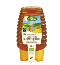 Honingen De Traay Bloemenhoning knijpfles Fairtrade 365 gram