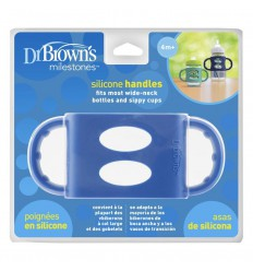 Dr Brown's Siliconen handvat voor brede hals blauw |