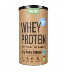 Sportvoeding Purasana Whey proteine lactosevrij naturel 400