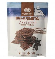 Chocolatemakers Chocozeiltjes donkere melk 52% koffie & nibs