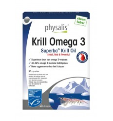 Physalis Krill omega 3 60 capsules   Superfoodstore.nl