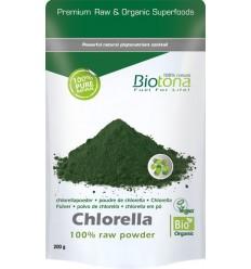 Biotona Chlorella raw powder 200 gram | Superfoodstore.nl